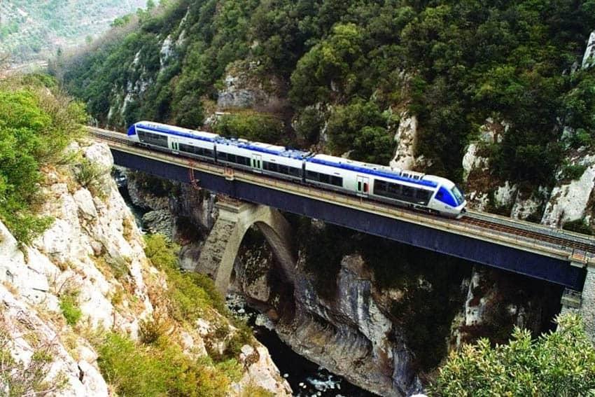 mountainside train