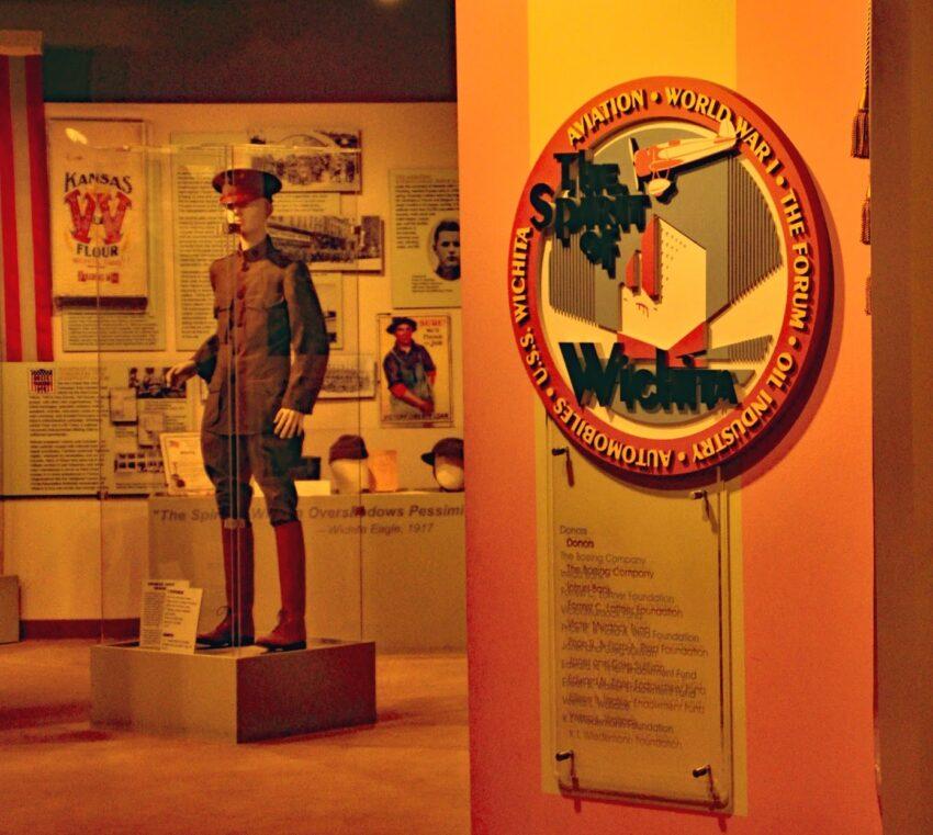 Wichita An exhibit on Wichita's aviation history occupies a corner inside the Wichita-Sedgwick County Historical Museum.