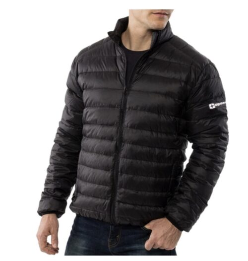 Alpine Swiss Puffer jacket.