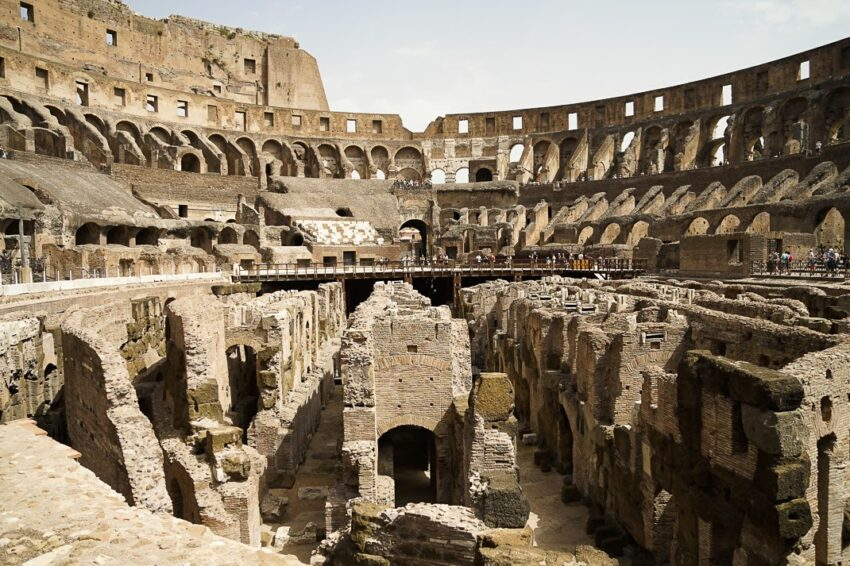 The Colosseum today. It is known to attract 20,000 visitors a day.