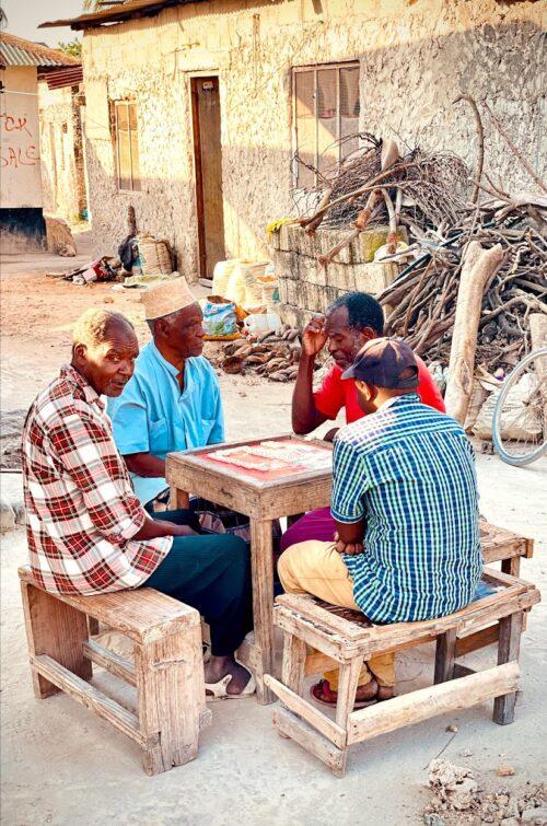 Playing dominoes in Stone Town, Zanzibar.