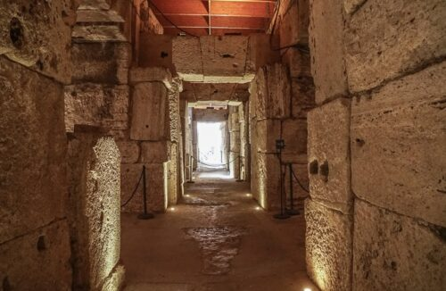 The Colosseum Underground is a 15,000-square-meter maze of corridors and passageways where the gladiators and animals hung out before ascending to the Colosseum floor.