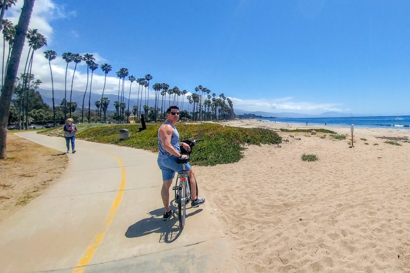 Out and about soaking up nature in America's Riviera, here at East Beach on one of many bike paths. Photos C. Ludgate