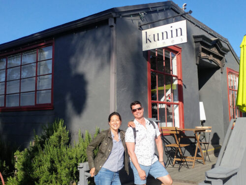 Magan Kunin with buddy Steve on a highlight tasting tour, discovering how the locals do it.