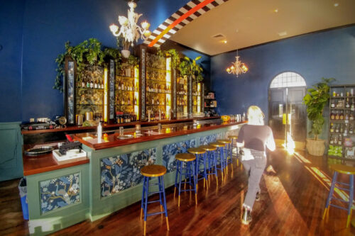 The retro elegance and ambience at Venus in Furs by State Street promenade lends to a cool vibe during happy hour.