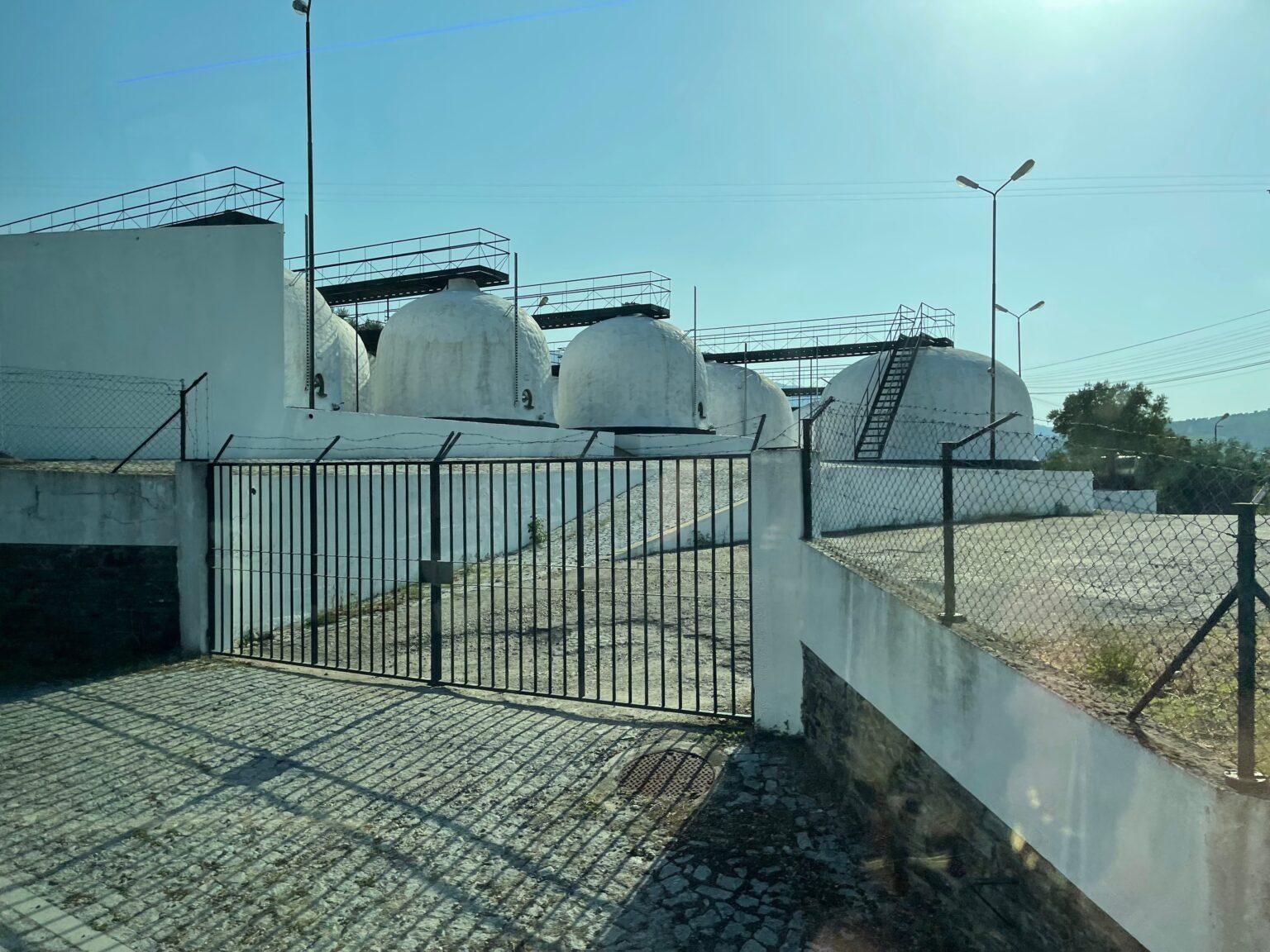 Port fermenting tanks in Portugal