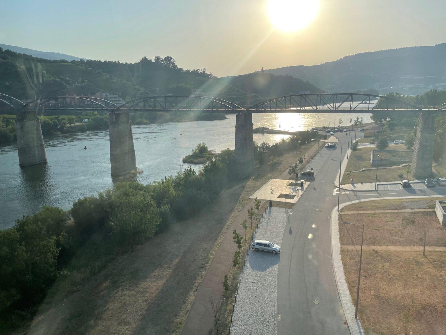 Dramatic bridge across the Douro in Regua Portugal.