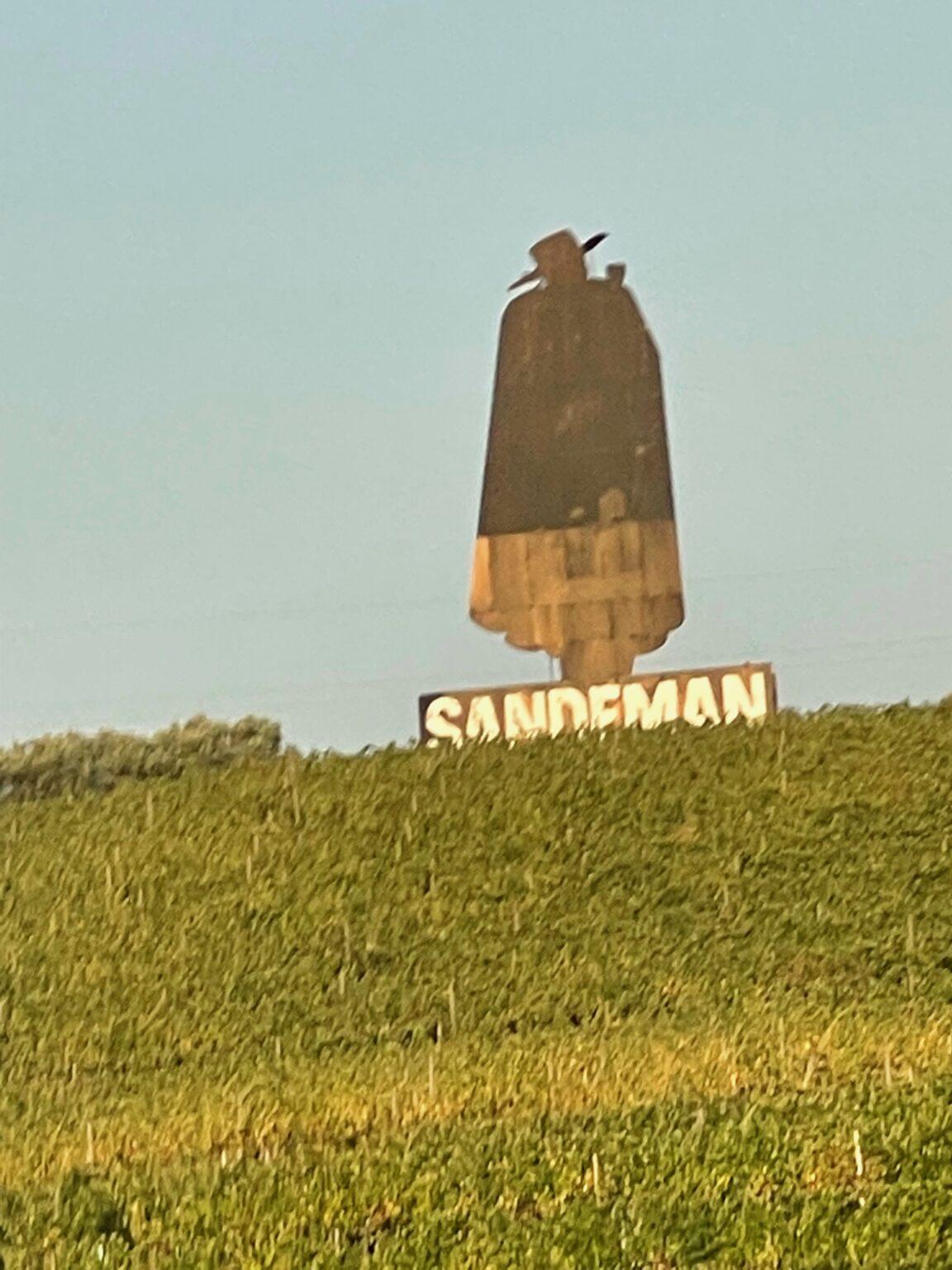 Mr Sandeman in Regua, Portugal.