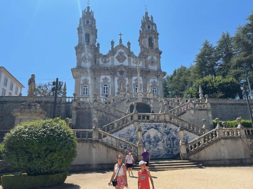 Santuário de Nossa Senhora dos Remédios in Lamego has a lot of stairs to go down.