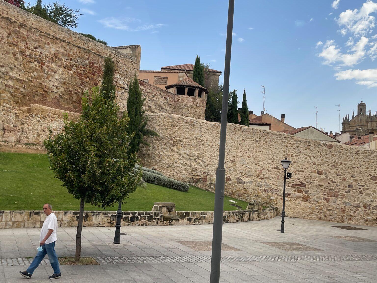 The walls in Salamanca Spain