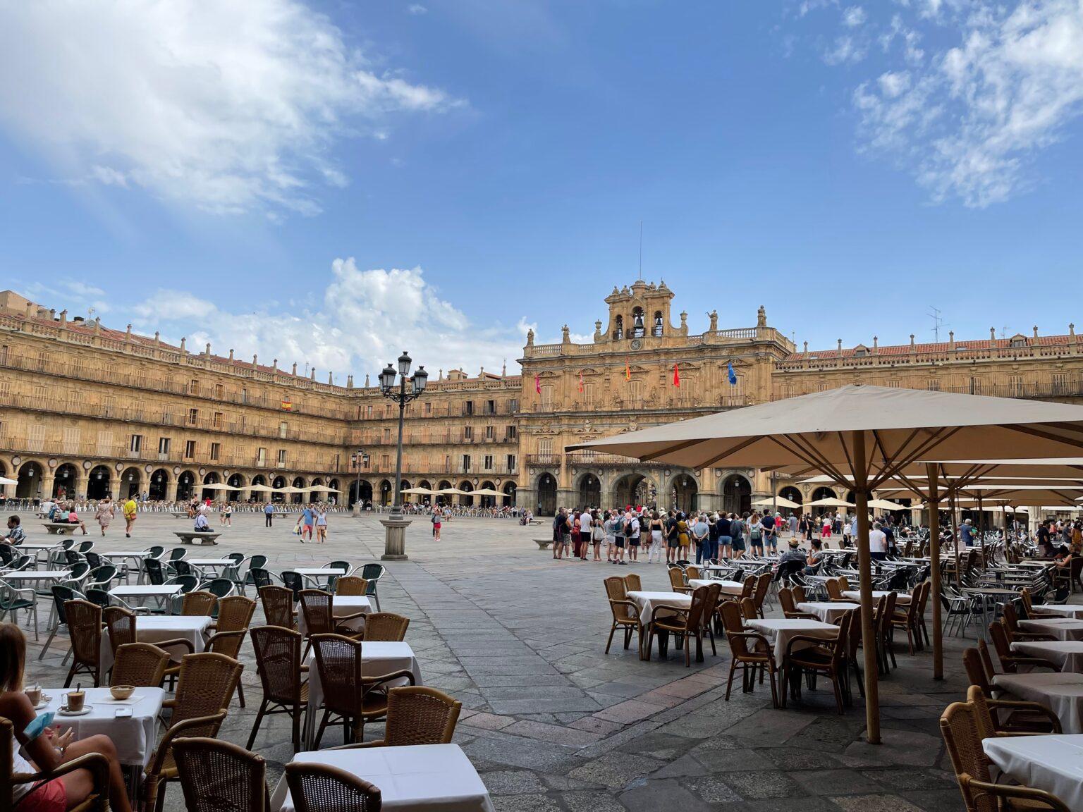 The main square in Salamanca.