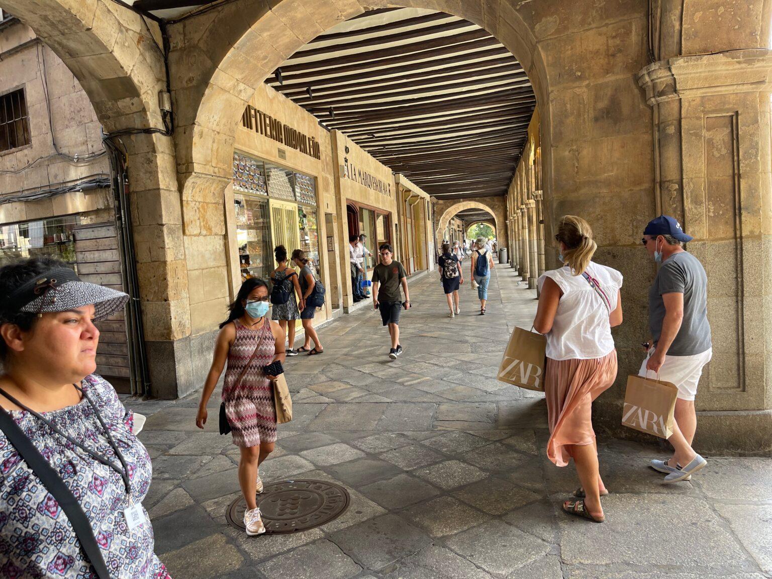 Portico in Salamanca, Spain.