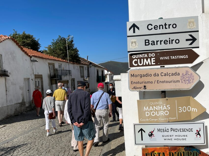 Walking tour of Provesende Portugal from the Scenic Azure.
