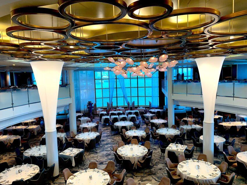 Metropolitan dining room on the Celebrity Millenium.