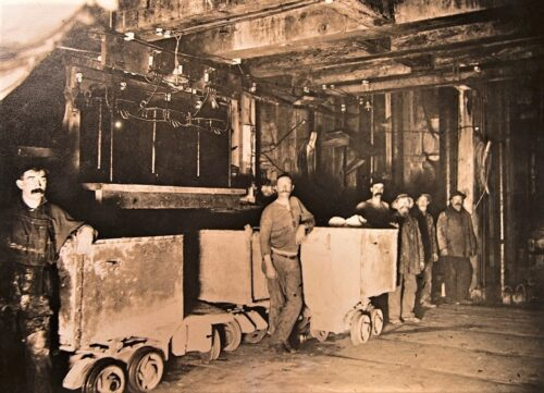 Miners photo at Comstock Gold Mill