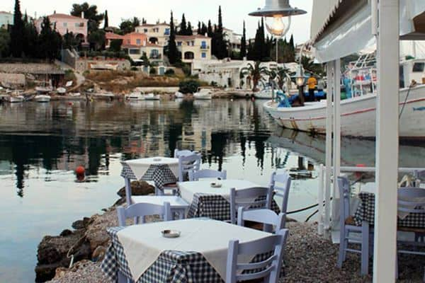 A waterfront taverna in Spetses, Greece. Gary Van Hass photos.