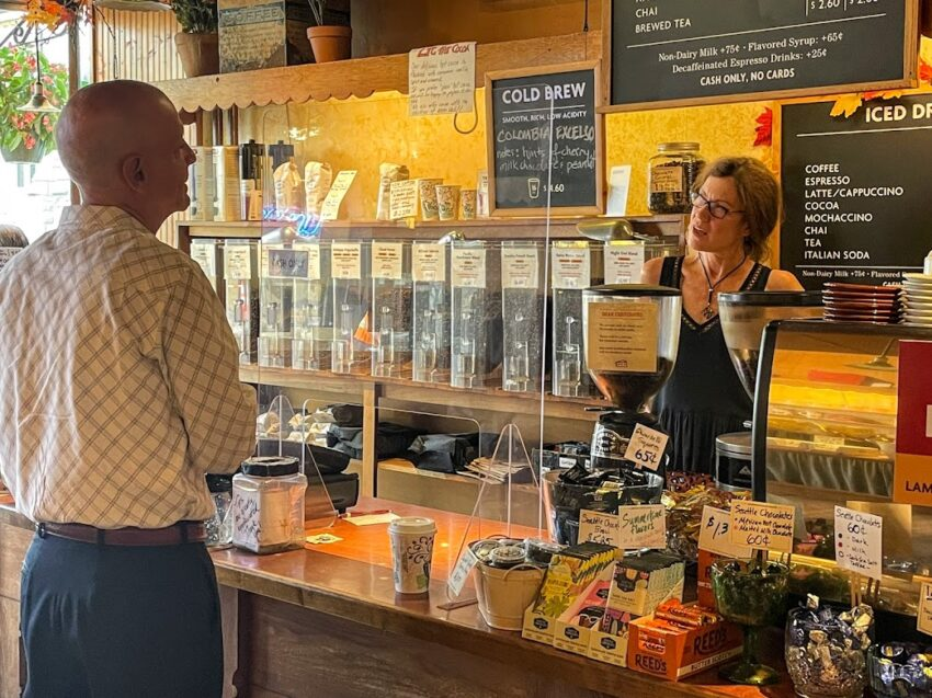 Start your day with a cold drink or hot brew at Lambertville Trading Company
