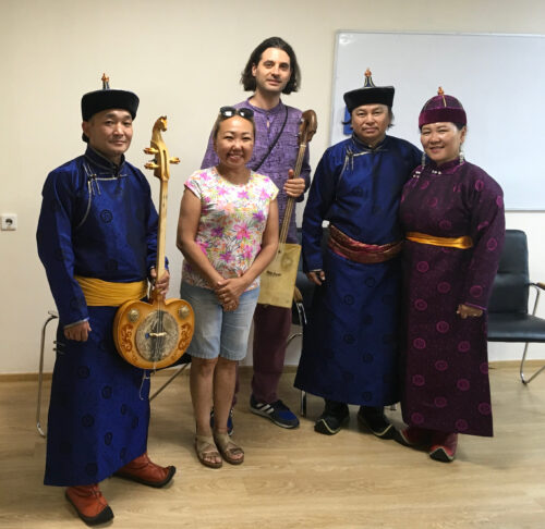 Traditional musicians and throat singers in Tuva, Russia.