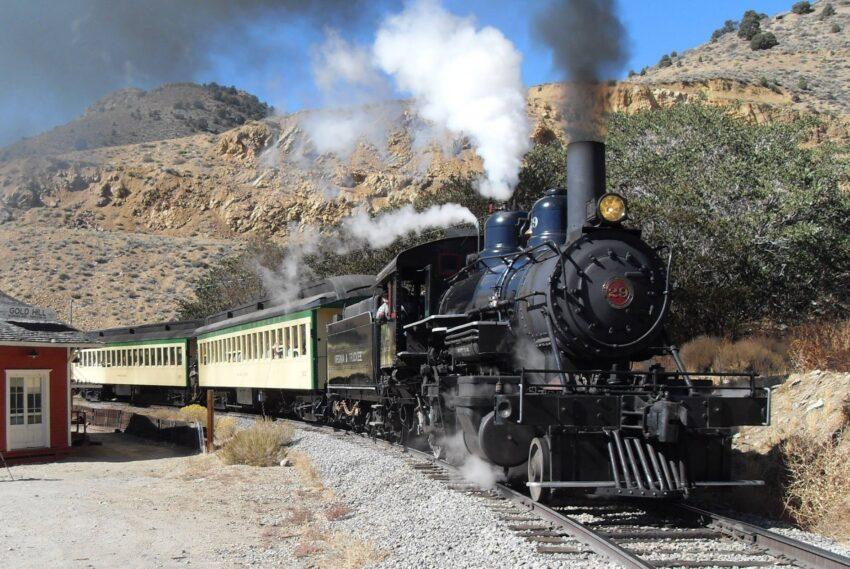 Virginia Truckee Railroad photo courtesy of Virginia City NV