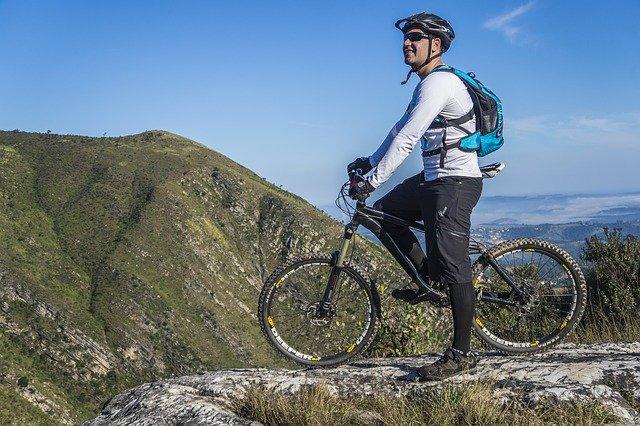 Mountain biking in Ibiza.