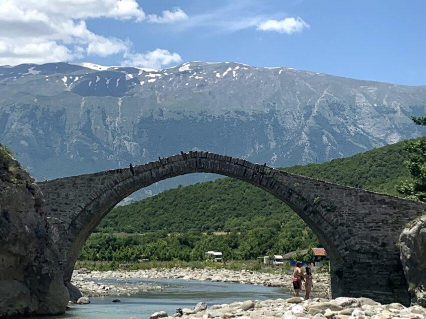 The Ottoman Bridge, Langaric Canyon Albania.