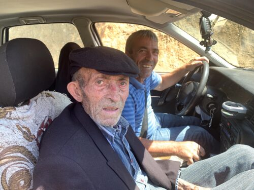 A father and son who gave us a lift in the mountains near Permet