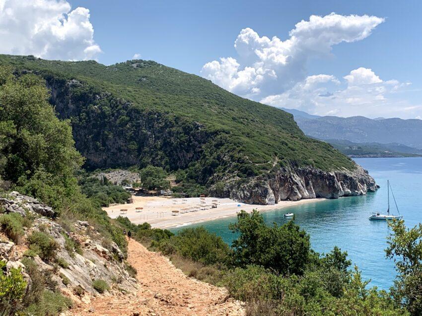 Gjipe Beach Albania.
