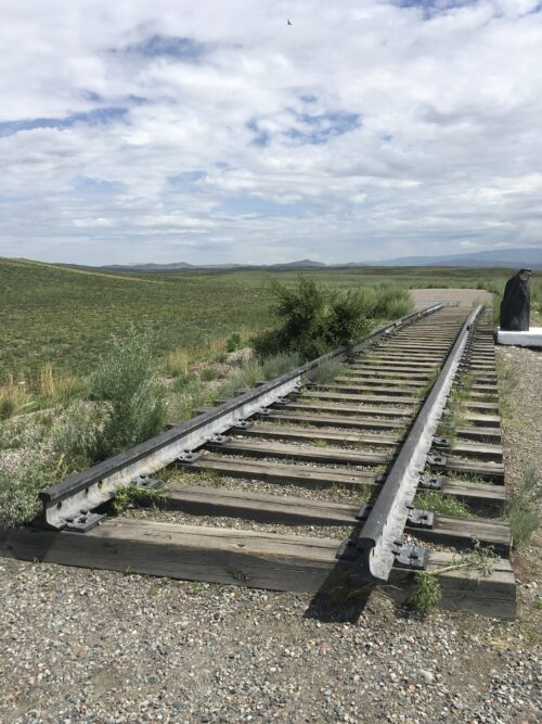 the first track for a future Abakan Kyzyl road